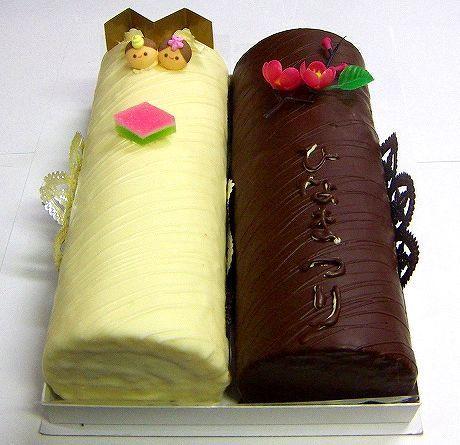 >雛チョコロール【ひなまつりロールケーキ】