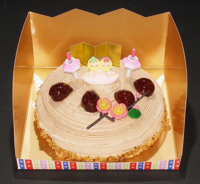 モンブラン(6号)【ひなまつりケーキ】